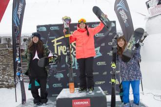 Janina Kuzma and Taylor Seaton defend their The North Face® Freeski Open Halfpipe titles