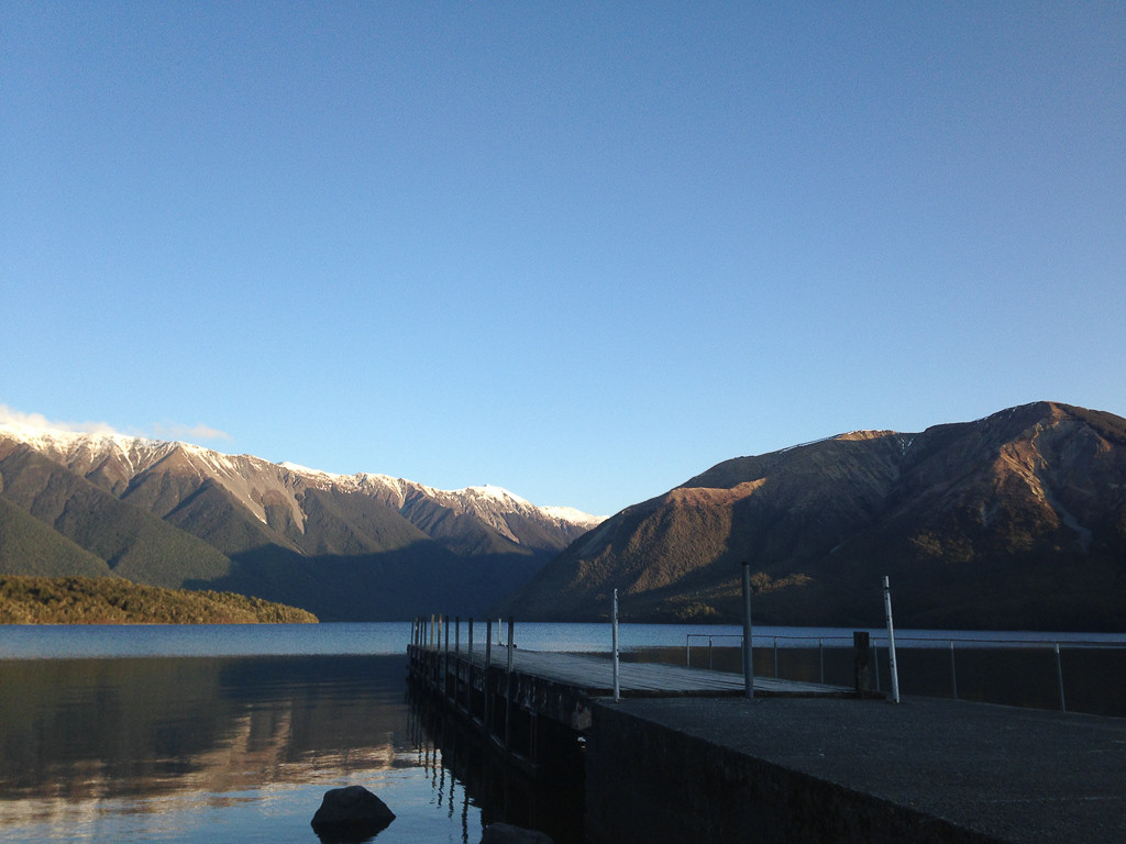 North face of Mt Robert on left over Lake Rotoiti